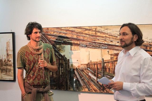 1 Valerio Giacone links mit Galerist Jürgen Leibig