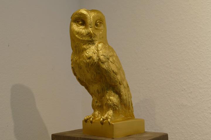 Eule, gold, EUR 40.- KUNSTMASSNAHMEN Heidelberg