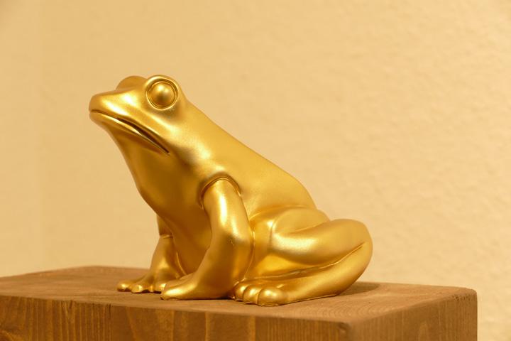 Frosch, gold, EUR 20.- KUNSTMASSNAHMEN Heidelberg
