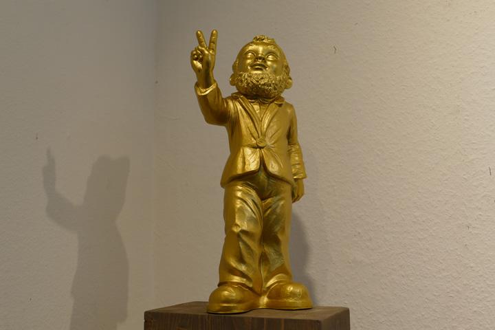 Peace, gold, EUR 50.- KUNSTMASSNAHMEN Heidelberg