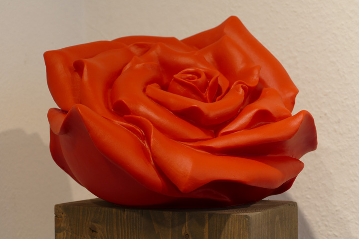 Rose, rot, .EUR 80.- KUNSTMASSNAHMEN Heidelberg